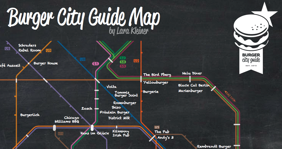 Burger City Guide Map