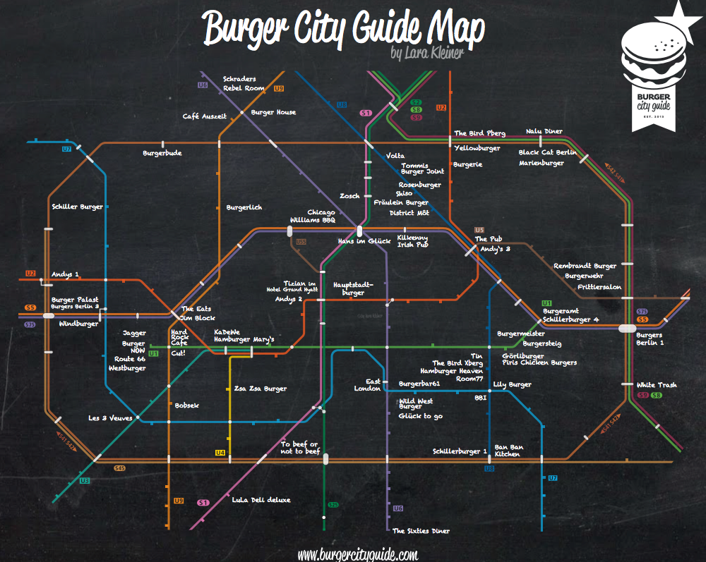 Berlin Burgher City Guide Map