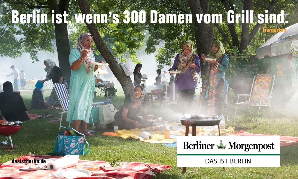 Berlino è, quando 300 donne si incontrano davanti alla griglia.