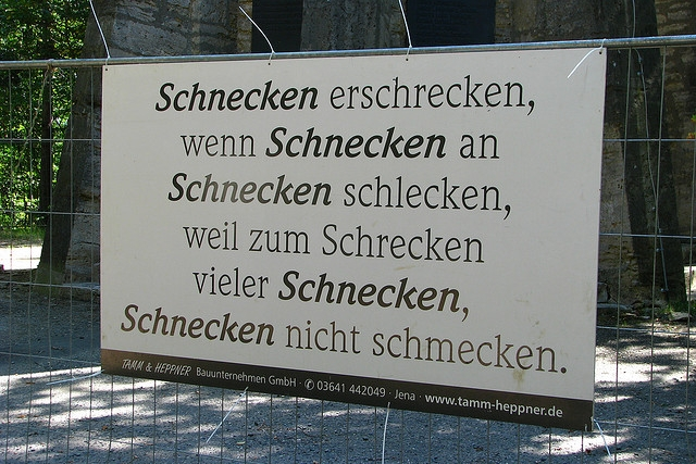 "Foto: ""Schnecken Schlecken"" © Andreas: https://www.flickr.com/photos/124330160/ - CC BY SA 2.0"