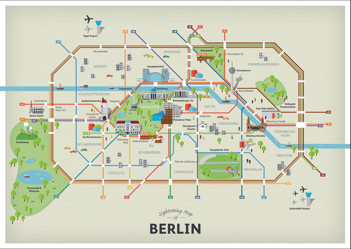 Cartina Metro Londra Con Monumenti.La Mappa Delle Attrazioni Turistiche Di Berlino Ricalcata Su Quella Della Metropolitana Berlino Magazine