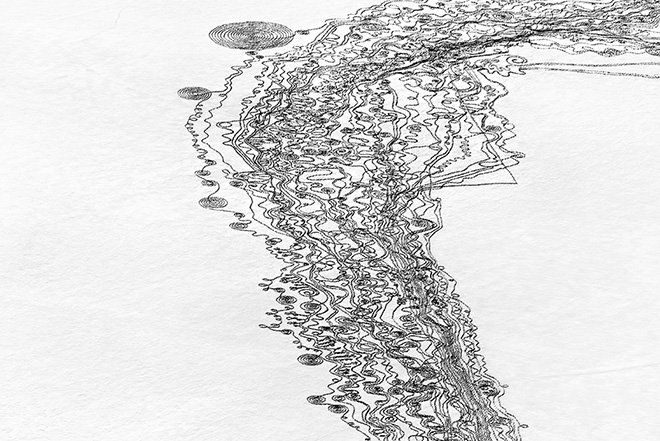 Snow Drawings sul Catamount Lake, Colorado, 2013