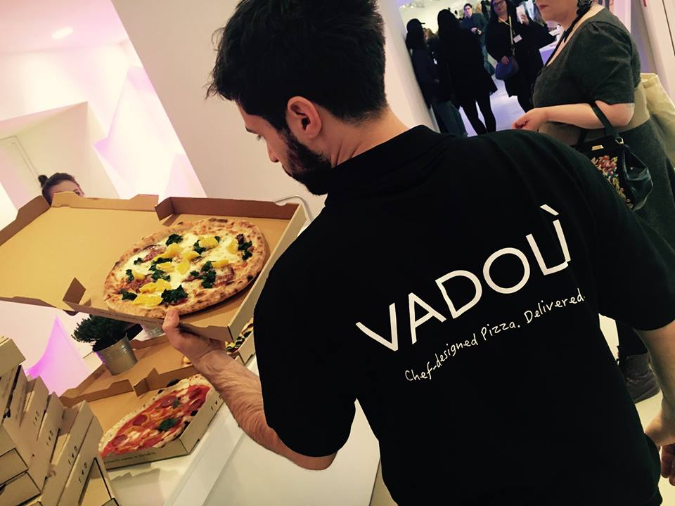 Le pizze di Vadolì durante un evento della Berlin Fashion Week