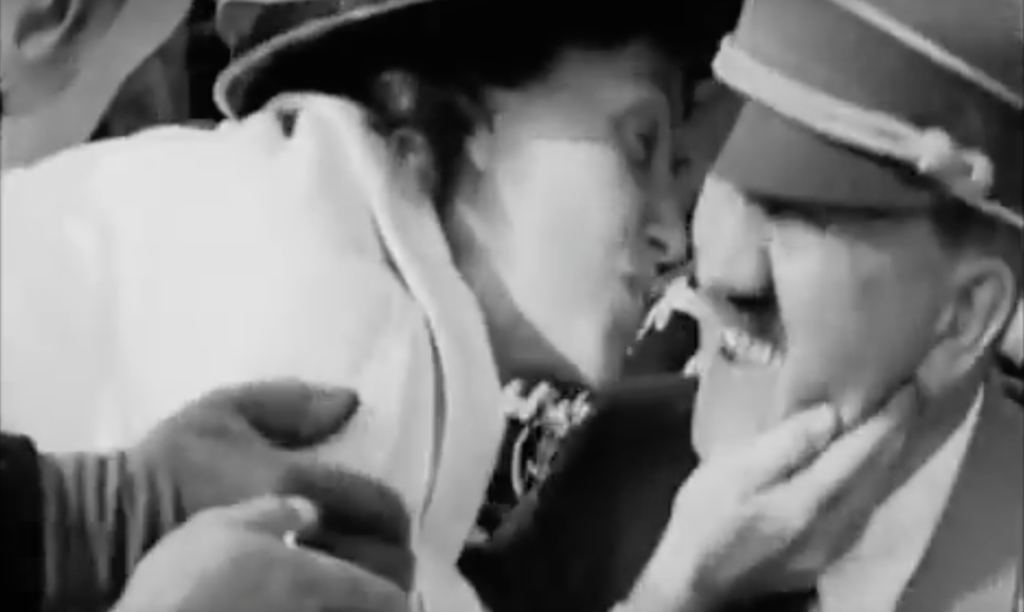 american woman kisses hitler