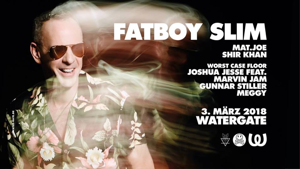 "Fatboy Slim pin watergate club ""official"""