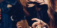 © Michael Discenza, Closeup of drinks at the club