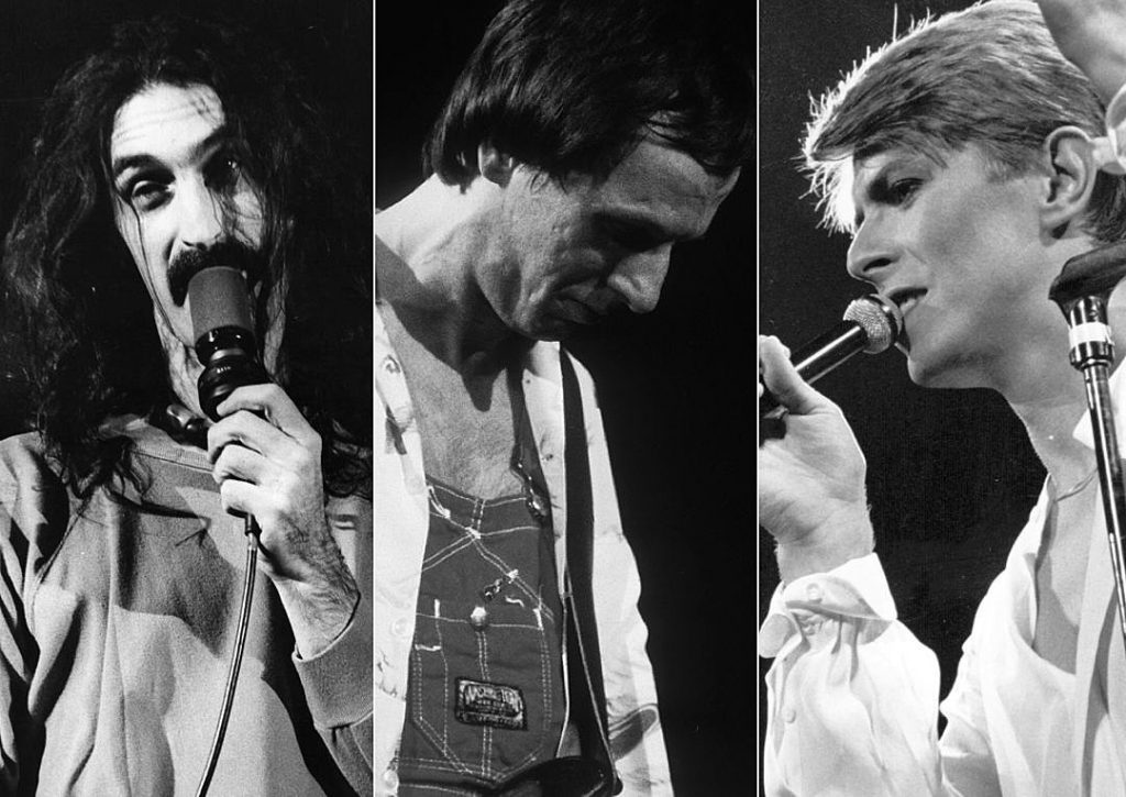 Zappa-Belew-Bowie ©Hulton Archive / Larry Hulsthttp://ultimateclassicrock.com/david-bowie-frank-zappa-adrian-belew/