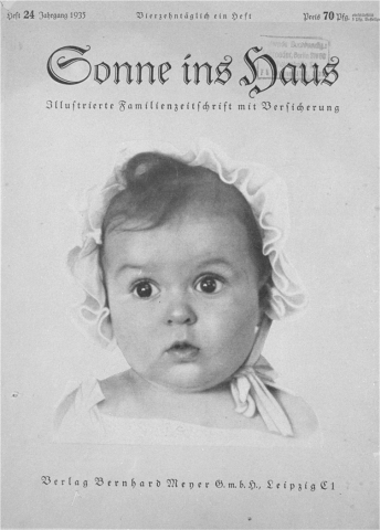 Hessy sulla copertina della rivista Sonne ins Haus ©United States Holocaust Museum ©Pubblico Dominiohttps://collections.ushmm.org/search/catalog/pa4294https://en.wikipedia.org/wiki/Hessy_Levinsons_Taft#/media/File:Hessy_Levinsons_Taft.jpg