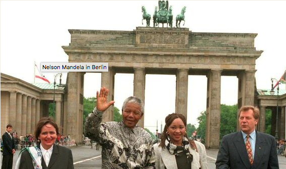 Nelson Mandela a Berlino Screenshot da YouTube