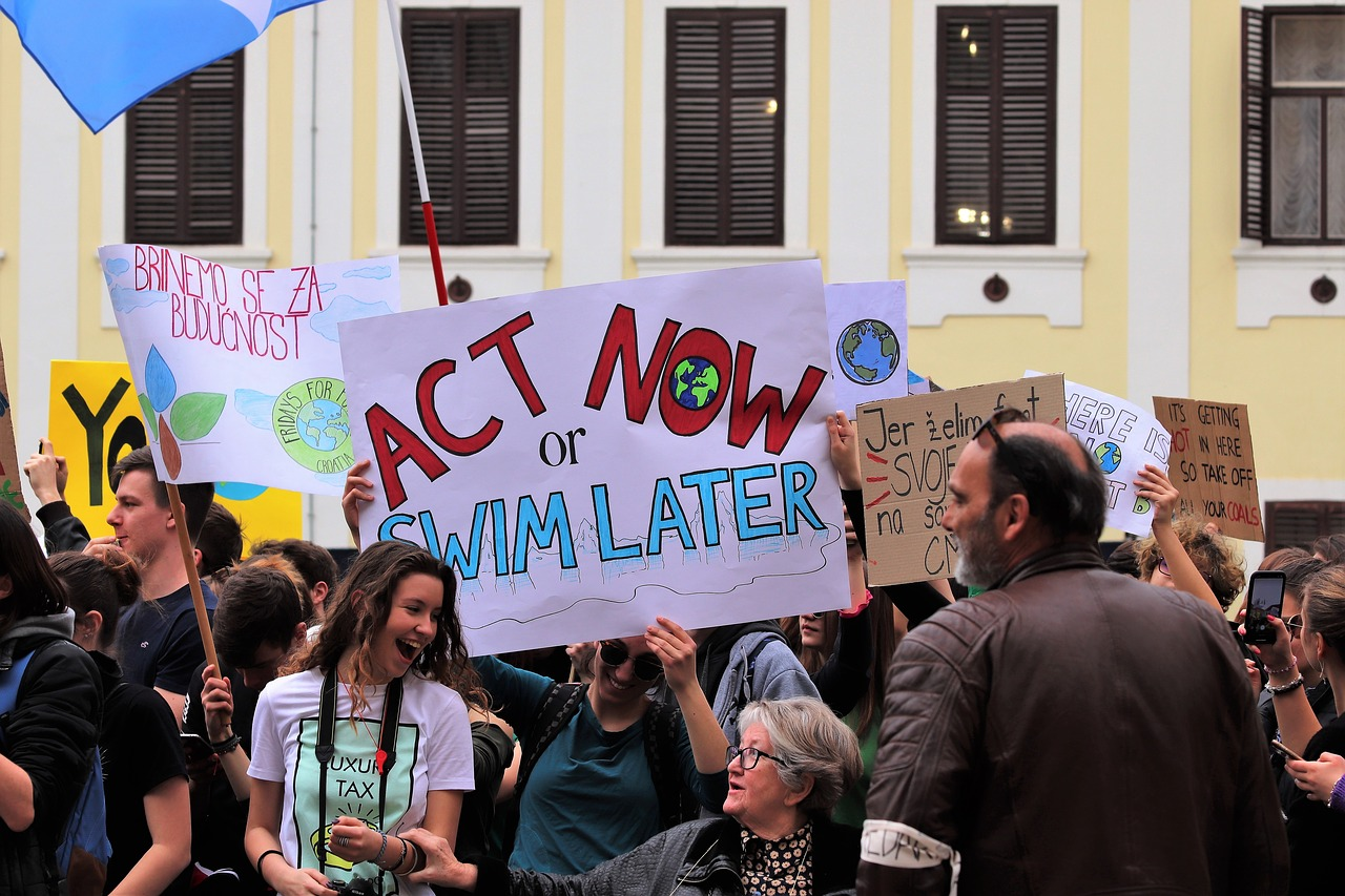 Fridays For Future, photo: GoranH, https://pixabay.com/it/photos/scuola-sciopero-di-4-clima-4057675/, CCO