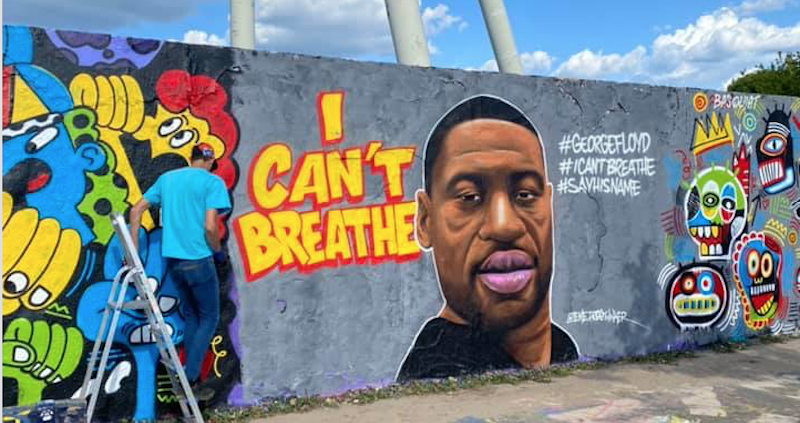 I can't breathe mural Berlin