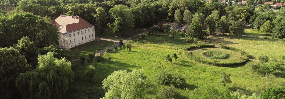 Aerial view of Schlossgut Schwante Sculpture Park. Image courtesy of Schlossgut Schwante Sculpture Park. Sculpture & Nature at Schlossgut Schwante Sculpture Park, 19 June – 31 October 2020, schlossgut-schwante.de